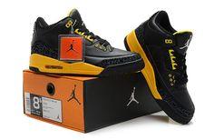 on sale 82e5a 645a2 Nike Air Jordan 3 III HommeHomme Noir Jaune - €72.64   Chaussures Nike Air  Max Pas Cher Solde   Nike Free Run   Nike Air Jordan - Livraison gratuits