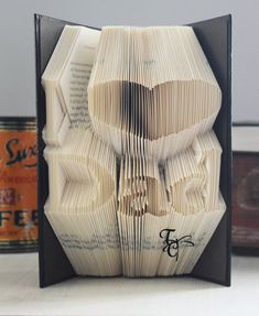 Folded Book Art  I heart Dad  Book Sculpture  by TodaysCreations1