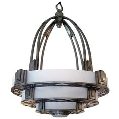 Very Rare Important Art Deco Ceiling Lamp | From a unique collection of antique and modern chandeliers and pendants at http://www.1stdibs.com/furniture/lighting/chandeliers-pendant-lights/