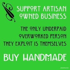 Poster found on FB Triad Handmade page.