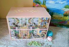 """Купить Комод """"Тосканский дворик"""" - бледно-розовый, комод, комодик, мини-комодик…"""