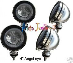 """Chrome spot #lamps clear #angel eye mini 4"""" spotlights h3 spot#lamps car scooter ,  View more on the LINK: http://www.zeppy.io/product/gb/2/301363732928/"""