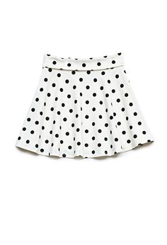 The XL skirts from the kid's section are pretty much the same length as a regular size small...but $5 cheaper! | Polka Dot Skater Skirt (Kids) from Forever21