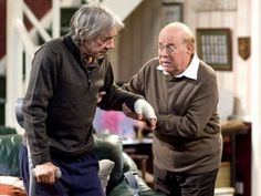 """The Old Guys (UK) tv show.  """"Richard Bucket (Bouquet)"""" from Keeping Up   Appearances, and """"Owen"""" from The Vicar of Dibley"""