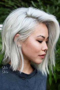 An A-Line bob is quite a popular hairstyle nowadays. We have prepared a collection of trendy hairstyles for A-Line bobs. You should definitely check it out! Blonde Bob Haircut, Bob Haircut With Bangs, A Line Haircut Long, A Line Long Bob, Side Part Haircut, Medium Bob Hairstyles, Hairstyles Haircuts, Braided Hairstyles, Wedding Hairstyles