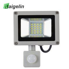 20W PIR Motion Sensor LED Flood Light AC 220V-240V 20 LED SMD 5730 2200LM Reflector LED Lamp Floodlight For Outdoor Lighting