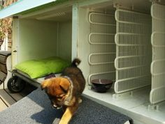 This lucky pup got a new place to romp made out of an old refrigerator! http://inhabitat.com/y-town-recycles-old-refrigerator-into-dog-house-for-adopted-pup/