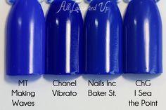Chanel Vibrato comparison swatch