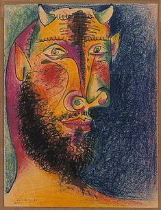 "Pablo Picasso - ""Head of Minotaur"", 1958"