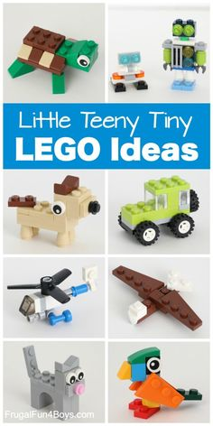 Teeny Tiny Mini LEGO Projects to Build – Frugal Fun For Boys and Girls - Kinderspiele Lego Design, Robot Lego, Lego Ninjago, Activities For Kids, Crafts For Kids, Bible Activities, Diy Crafts, Lego Challenge, Lego Club