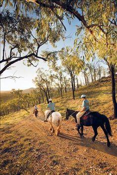 Horse riding, Kroombit Park, #Australia.