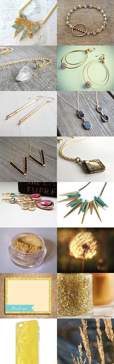 All That Glitters Is Gold by Sari on Etsy - Pinned with TreasuryPin.com