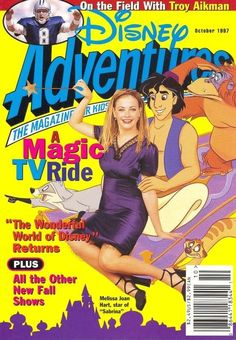 Disney Adventures....Always had to have the latest edition when we went to the grocery store!!!! Always clipped the coupon out and put it in our huge glass jar of change that would be used as a doorstop.  Never saw Disney though, until I was 25