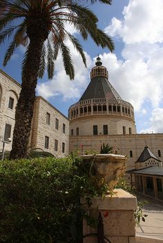 The Basilica of the Annunciation in Nazareth.