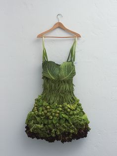 Scallion, Brussels Sprouts and Cabbage dress by Sarah Illenberger