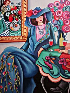 matisse paintings | Painting A Day Objets d' Art: Secret Lover- Matisse Inspired Painting ..