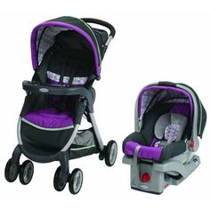 Graco FastAction Fold Click Connect Travel System, Car Seat and Stroller, Nyssa - Walmart.com