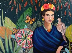 'Frida et sa nature vivante' by Sylvie Demers -Read her Interview on theartfolk.com plus see a collection of Sylvie's affordable art prints for sale