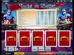 103 free #Video #Poker games. Discover our game panel >> jackpotcity.co/free-video-poker.aspx