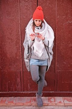 Fashion Tights, Tights Outfit, Women's Fashion, Grey Tights, Wool Tights, Geek Chic Outfits, Leggings, Hosiery, Casual Wear