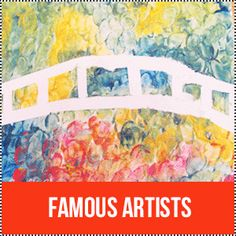 Famous Artist Crafts - Great for Arts and Crafts Themes- study of different artists
