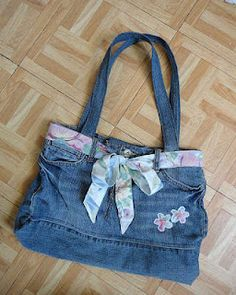 crafts to do with old jeans - Google Search
