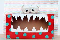 Tattle Monster valentine box, tattl monster, craft, school, valentine day, tissue boxes, monsters, teacher, kid