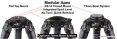 PMG Pro Stix 58 inch Carbon Fiber Tripod w/ diameter legs Photography Camera, Tripod, Carbon Fiber, Legs, Bridge