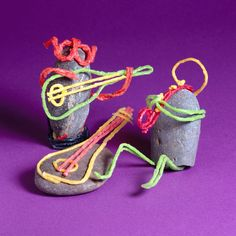 For fun and easy kid crafting, Wikki Stix can be used on flower pots, vases, paper lunch sacks (painted or plain), as well as wooden boxes and rocks (be su