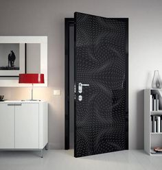 Super Modern And Futuristic Interior Door With Creative Graphic Design ...