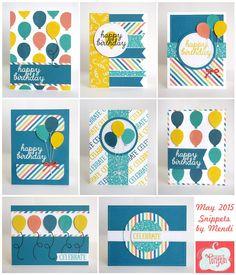Stampin' Up Paper Pumpkin May 2015 Kit-Birthday Cards | Snippets By Mendi | Bloglovin
