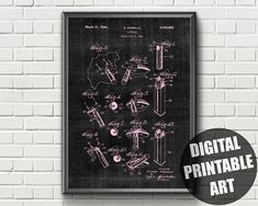 Items similar to Lipstick Print Patent Prints, Printable Wall Art, Digital Art, Lipstick, Printables, Makeup, Etsy, Beauty, Make Up