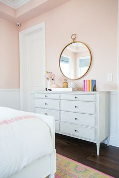 "Little girl's room painted Benjamin Moore ""Love & Happiness"" 