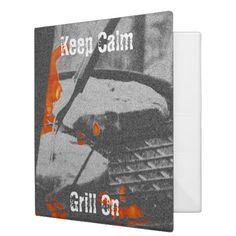 Shop Keep Calm Grill On - Recipe Binder created by Personalize it with photos & text or purchase as is! Photography Gifts, Binder, Keep Calm, Grilling, Recipes, Gift Ideas, Holidays, Stay Calm, Crickets