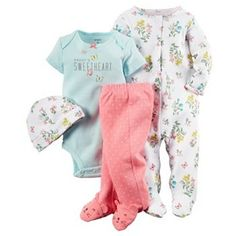 Carter's Baby Girls' Garden Layette Set -Gabriella has this outfit. So I can remember what went together! Baby Outfits, Outfits Niños, My Baby Girl, Our Baby, Baby Love, Carters Baby Girl Clothes, Girly Girl, Baby Set, Baby Girl Fashion