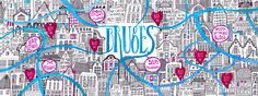 I had never heard of Bruges, but now I want to be there. Madi Andronic's illustrated map of the city on They Draw & Travel.