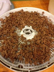 Dehydrated Ground Beef for Backpacking! It's easy to Dehydrate Ground Beef to use in a ton of backpacking recipes. Read this recipe to find out how to do it!