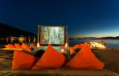 Movie at the beach. Six Senses Ninh Van, Nha Trang, Vietnam. © Six Senses, fot. Basil Childers