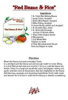 Red Beans & Rice Recipe