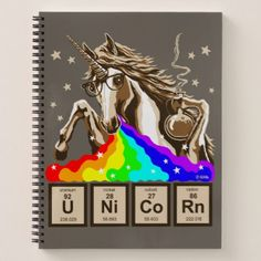 Chemistry unicorn pukes rainbow notebook - cool gift idea unique present special diy