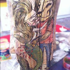 @dirtynico's #moaï #inprogress: the #bleeding #mermaid #nofilter | by nicoz balboa