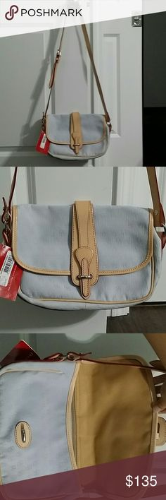 Dooney and Burke Crossbody Purse New with tags Large Equestrian SP54EX Lavender periwinkle color Dooney & Bourke Bags Crossbody Bags