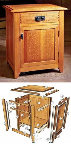 DIY Nightstand - Furniture Plans and Projects | WoodArchivist.com