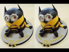 Batman Cake Minion Cake How To - Max's Cake Studio - YouTube
