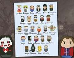 Superheroes parody alphabet sampler  Cross stitch PDF pattern by cloudsfactory | Etsy