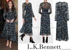L.K. Bennett Cersei Evergreen Silk Dress