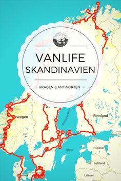 Im Van durch Skandinavien – Fragen & Antworten zu meiner Reise durch Schweden, Finnland und Norwegen im Van / Wohnmobil.
