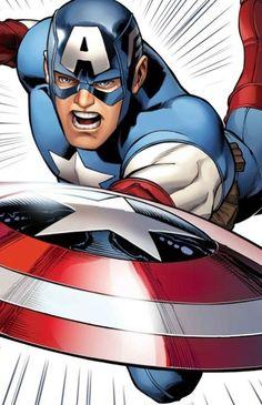 Captain America Marvel Comics, Fun Comics, Marvel Heroes, Marvel Characters, Marvel Dc, Fictional Characters, Steve Rogers, Comic Books Art, Comic Art