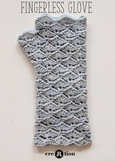 Free Pattern Crochet Fingerless Gloves | Crochet Patterns, tips & Ideas كروشي ورد نبرونات بترونات