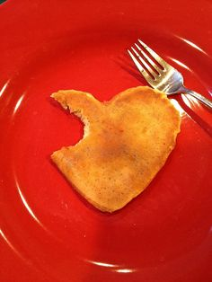 The Classic Valentine's Day Breakfast, hear shaped pancakes!